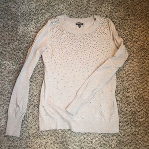 Tan bedazzled sweater